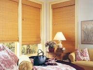 бамбуковые шторы в гостиной