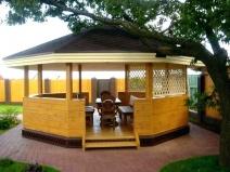 деревянная беседка в китайском стиле