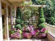 Цветы можно размещать и на полу и создавать вертикальные композиции