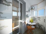 Оригинальное решение для полукруглого балкона