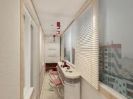 Пример современного оформления балкона