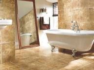 плитка керамогранит в ванной комнате