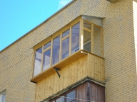 Такой может быть крыша балкона на последнем этаже