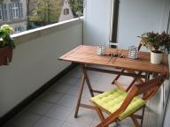 Деревянные складные стол и стулья для балкона
