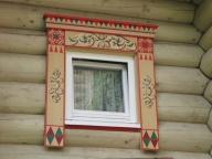 резной наличник на окно