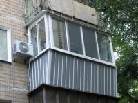 Внешняя отделка балкона профлистом