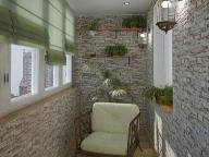 Для оформления балкона прекрасно подходит декоративный камень