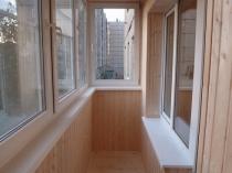 ПФХ балкон обшитый вагонкой