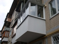Увеличение балкона путем выноса его по основанию плиты