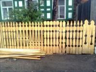 деревянный резной штакетник