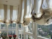 Длинные шторы всегда можно присобрать