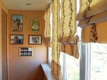 Римские шторы в пастельных тонах