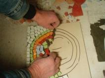 выкладка рисунка из мозаики